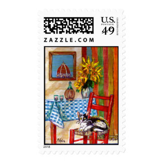ITALIAN KITCHEN IN FLORENCE STAMP