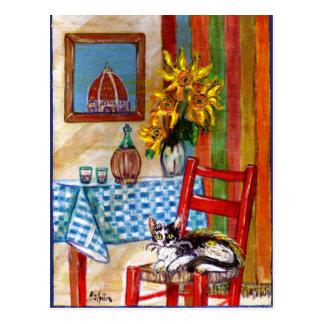 ITALIAN KITCHEN IN FLORENCE Recipe Postcard