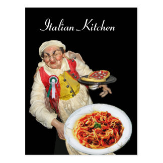 ITALIAN KITCHEN  Recipe Postcard