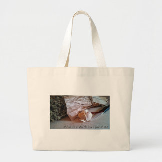 Italian Kitchen With Bible Verse Large Tote Bag