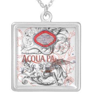 Italian Label Art & Gargoyle Square Pendant Necklace