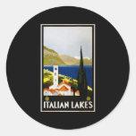 Italian Lakes Round Sticker