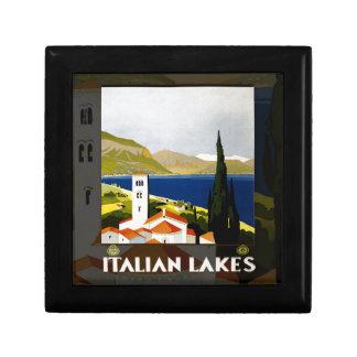 Italian Lakes Vintage Travel Poster Keepsake Box