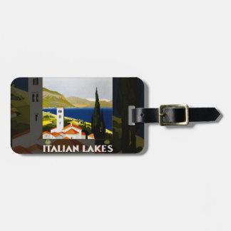 Italian Lakes Vintage Travel Poster Bag Tag