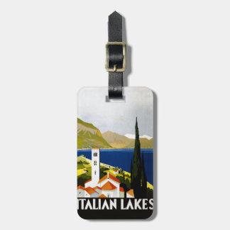 Italian Lakes Vintage Travel Poster Luggage Tag