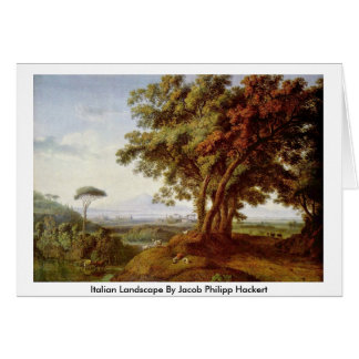 Italian Landscape By Jacob Philipp Hackert Greeting Card