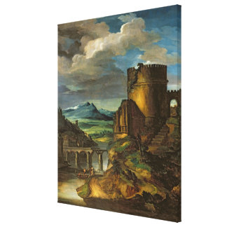 Italian Landscape or, Landscape with a Tomb Canvas Print
