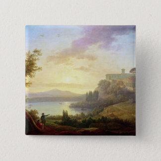 Italian Landscape, Setting Sun Button