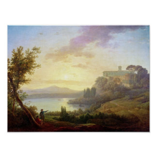 Italian Landscape, Setting Sun Print