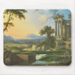 Italian landscape with ruins mouse pad