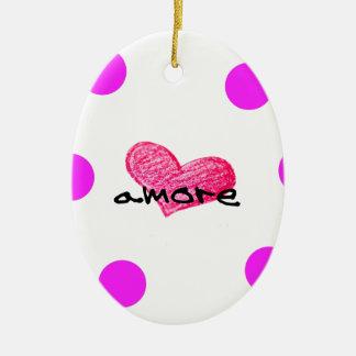 Italian Language of Love Design Ceramic Ornament