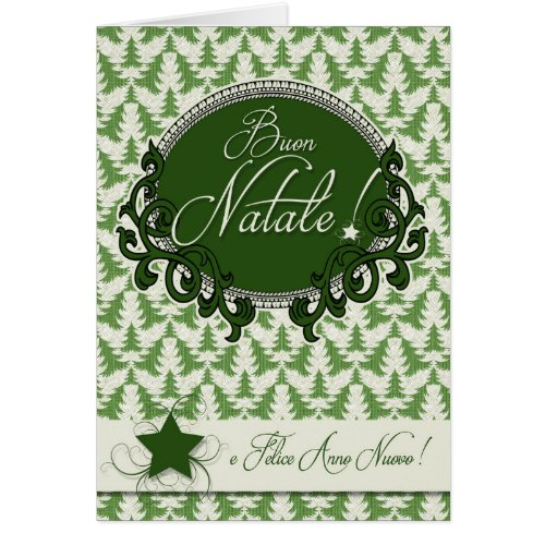 Italian language retro green christmas trees card sales 9396 buy this christmas cards from zazzle m4hsunfo