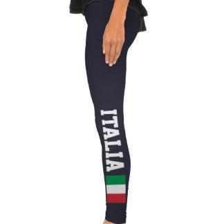 Italian leggings with flag of Italy