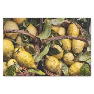 "Italian Lemons in a Basket 10"" X 15"" Tissue Paper"