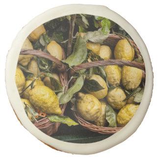 Italian Lemons in a Basket Sugar Cookie