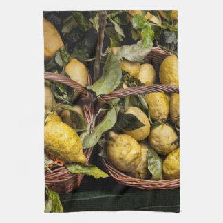 Italian Lemons in a Basket Towels