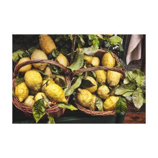 Italian Lemons Kitchen or Restaurant Decor Canvas Print