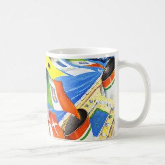 Italian Line ~ Under This Flag Classic White Coffee Mug