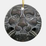 Italian lion door knocker christmas tree ornament