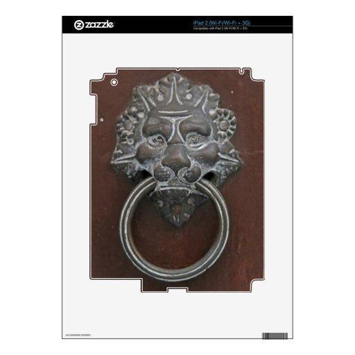 Italian lion door knocker iPad 2 skins