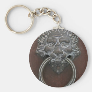 Italian lion door knocker keychain
