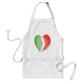 Italian love adult apron