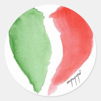 Italian love classic round sticker