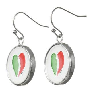 Italian love earrings
