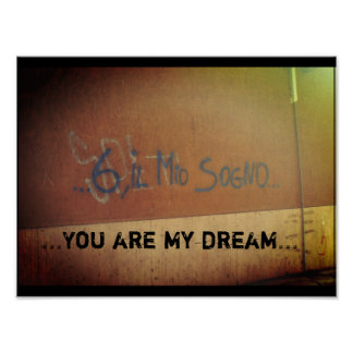 Italian Love Graffiti Poster