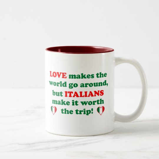 Italian Love Two-Tone Coffee Mug