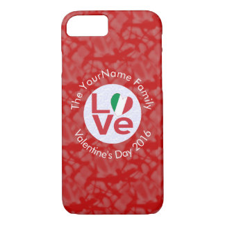 Italian LOVE White on Red iPhone 8/7 Case