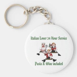 Italian Lover 24 Hour Service  Pasta & Wine includ Keychain