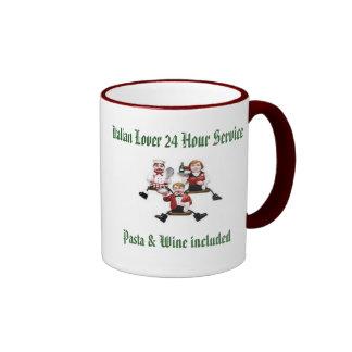 Italian Lover 24 Hour Service Pasta & Wine include Ringer Mug
