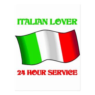 Italian Lover 24 Hour Service Postcard
