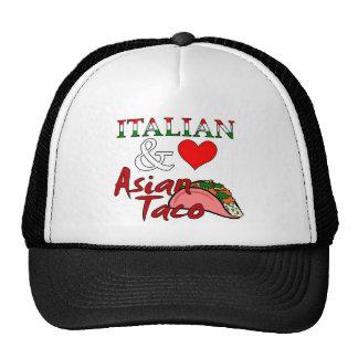 Italian Loves Asian Taco Hats