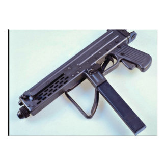 Italian Luigi Franchi 9mm sub machine gun Personalized Invite