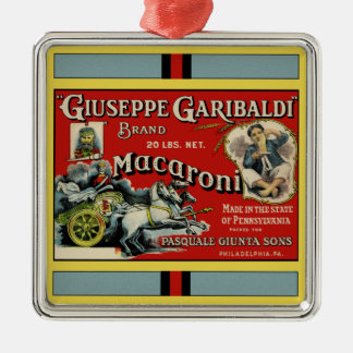 Italian Macaroni Advertisement Metal Ornament