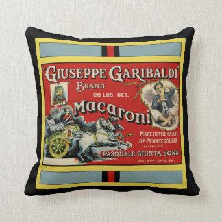 Italian Macaroni Label Throw Pillows