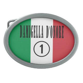 Italian Maids of Honor : Damigella D'Onore Numero Belt Buckles