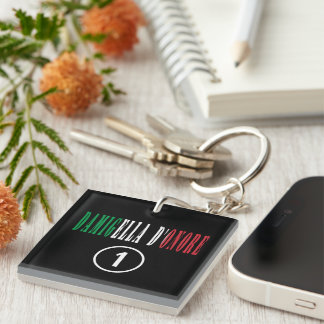 Italian Maids of Honor : Damigella D'Onore Numero Single-Sided Square Acrylic Keychain