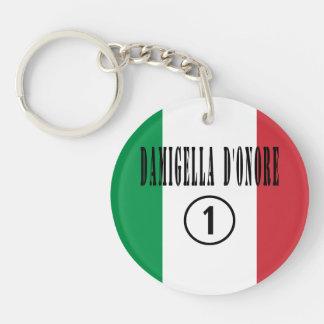 Italian Maids of Honor : Damigella D'Onore Numero Single-Sided Round Acrylic Keychain