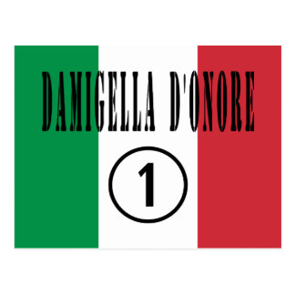 Italian Maids of Honor : Damigella D'Onore Numero Postcard