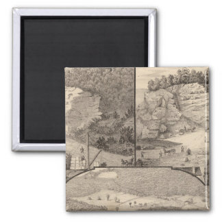 Italian Marble Mills and Quarries 2 Inch Square Magnet