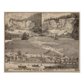 Italian Marble Mills and Quarries Poster