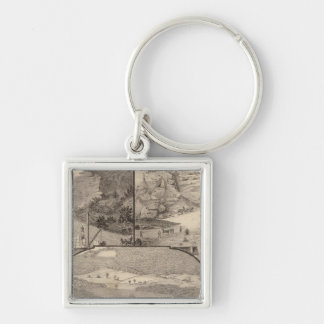 Italian Marble Mills and Quarries Silver-Colored Square Keychain