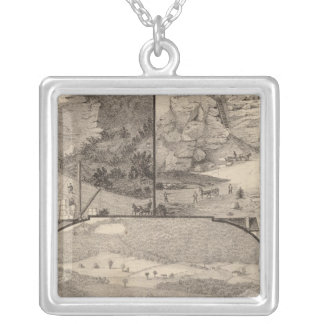 Italian Marble Mills and Quarries Square Pendant Necklace
