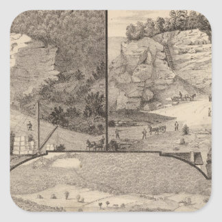 Italian Marble Mills and Quarries Square Sticker