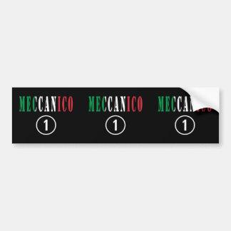 Italian Mechanics : Meccanico Numero Uno Car Bumper Sticker