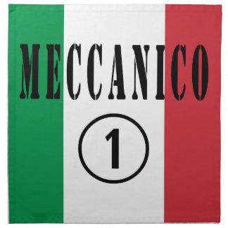 Italian Mechanics : Meccanico Numero Uno Printed Napkin