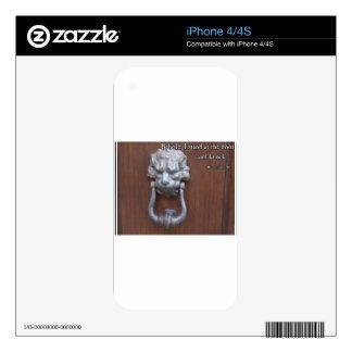 Italian Medieval Doorknocker with Bible Verse Skins For iPhone 4S